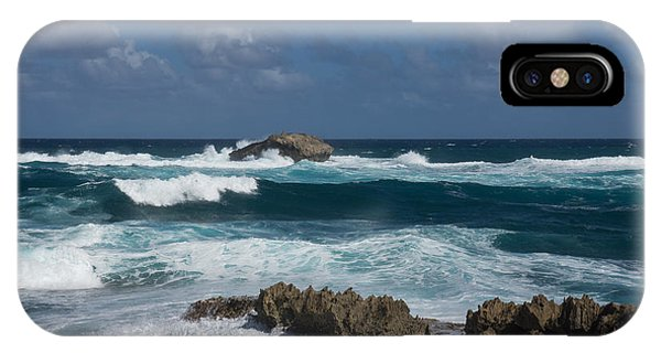 Boiling The Ocean At Laie Point - North Shore - Oahu - Hawaii IPhone Case