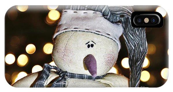 Bokeh Snowman IPhone Case