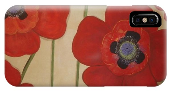 Bold Poppies IPhone Case