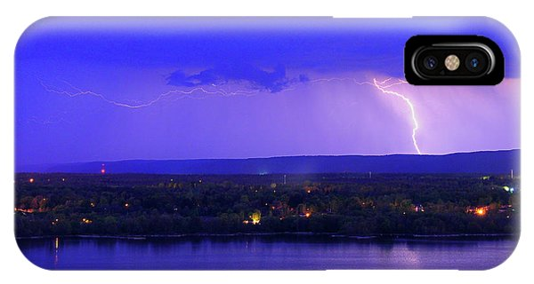 Bolt Over Gatineau Hills  IPhone Case
