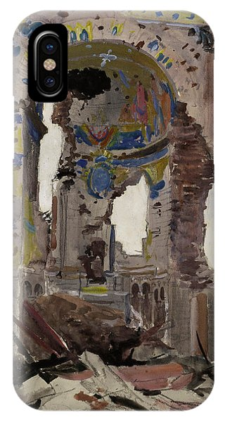 Damage iPhone Case - Bombed Out Interior Of Albert Church by Ernest Proctor
