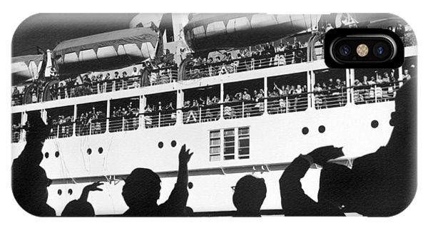 Departure iPhone Case - Bon Voyage by Underwood Archives