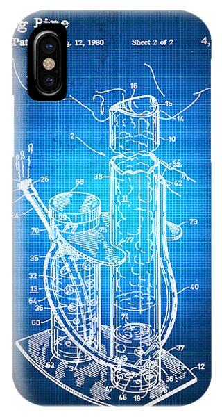 Tote Bag - WEED BONG BLUEPRINT BLUE by Tony Rubino Tony Rubino XNgoy9Or