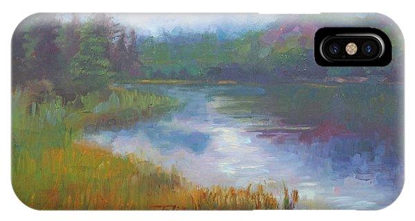 Bonnie Lake - Alaska Misty Landscape IPhone Case
