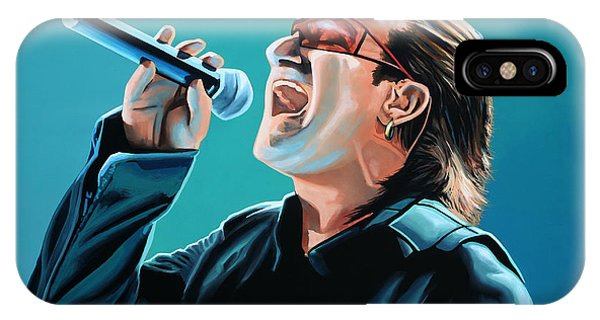 Bono Of U2 Painting IPhone Case