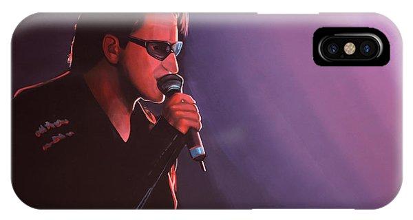Or iPhone Case - Bono U2 by Paul Meijering