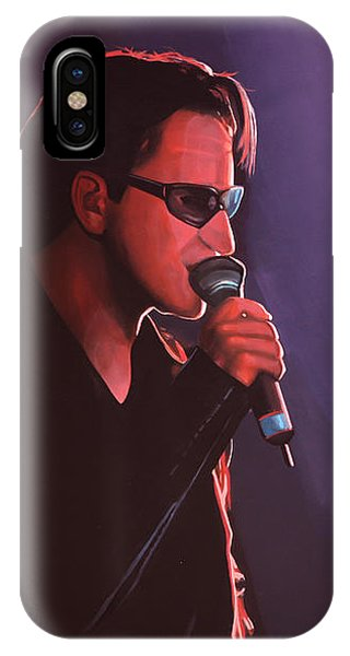 Irish iPhone Case - Bono U2 by Paul Meijering