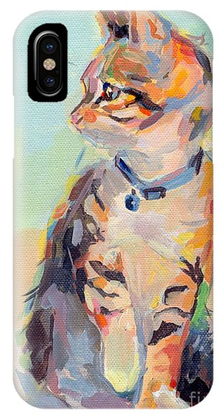 Tabby iPhone Case - Boo by Kimberly Santini