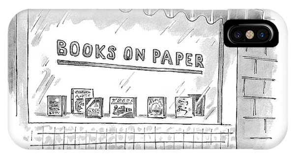'books On Paper' IPhone Case
