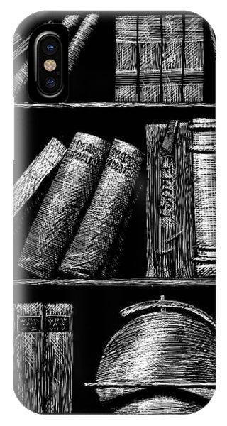 Books On Shelves IPhone Case