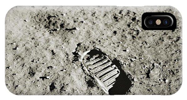 Spaceflight iPhone Case - Bootprint On The Moon by Nasa/detlev Van Ravenswaay