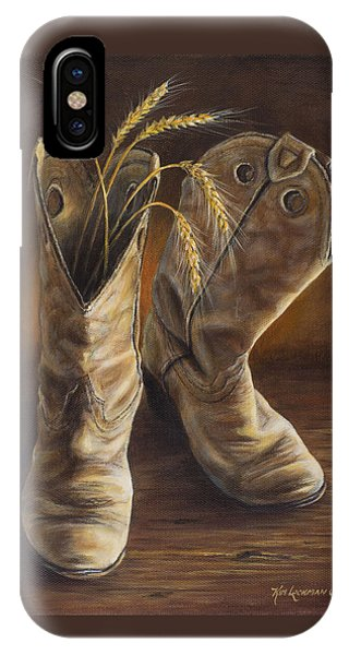 Boots And Wheat IPhone Case
