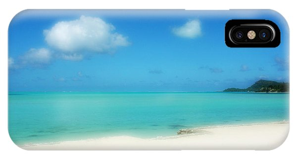 South Pacific Ocean iPhone Case - Bora Shades Of Blue And White by Julie Palencia