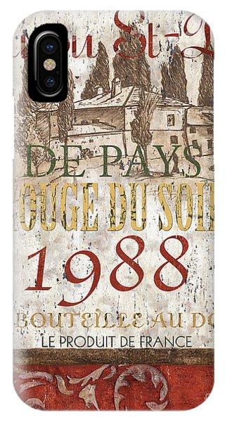 Vino iPhone Case - Bordeaux Blanc Label 1 by Debbie DeWitt