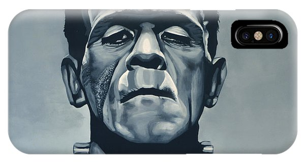Christmas iPhone Case - Boris Karloff As Frankenstein  by Paul Meijering
