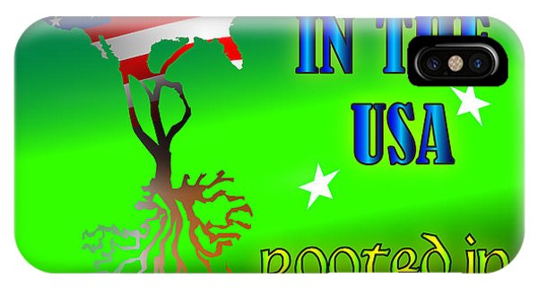 Born In The Usa Rooted In Ireland IPhone Case
