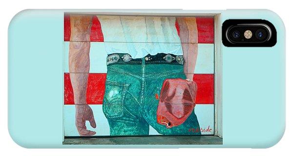 Born In The Usa Urban Garage Door Mural IPhone Case