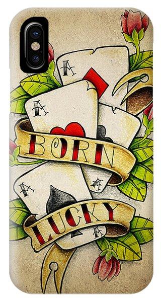 Color Pencil iPhone Case - Born Lucky by Samuel Whitton