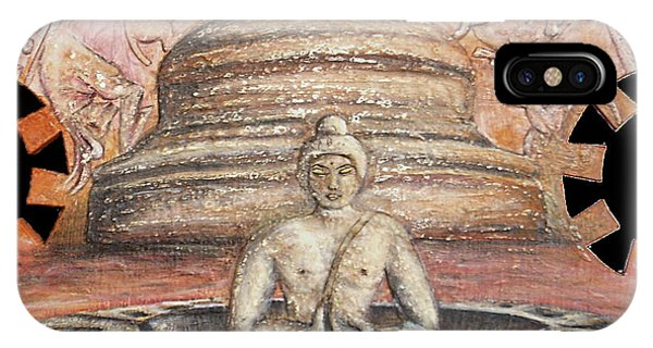 Borobudur Phone Case by Anna Maria Guarnieri