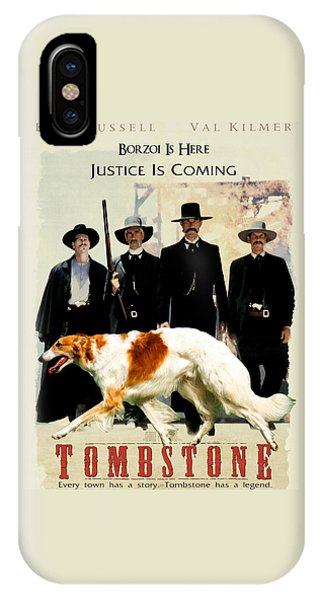 Borzoi Art - Tombstone Movie Poster IPhone Case