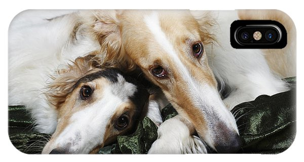 Borzoi Dogs In Love IPhone Case