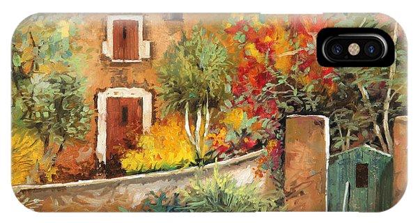 Village iPhone Case - Bosco Giallo by Guido Borelli