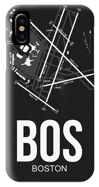 Travel iPhone Case - Boston Airport Poster 1 by Naxart Studio