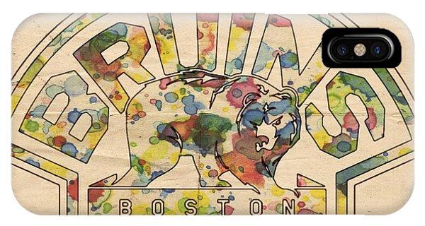 Boston Bruins Retro Poster IPhone Case
