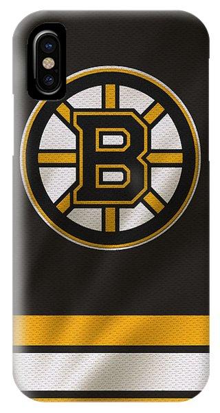 Puck iPhone Case - Boston Bruins Uniform by Joe Hamilton
