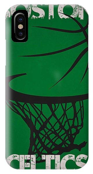 Celtics iPhone Case - Boston Celtics Hoop by Joe Hamilton