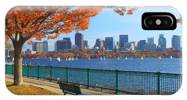 Skyline iPhone Case - Boston Charles River In Autumn by John Burk