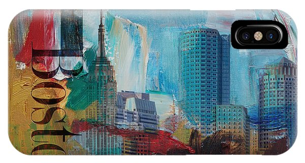 Boston City Collage 3 IPhone Case