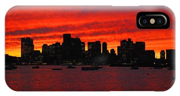 Boston City Sunset IPhone Case