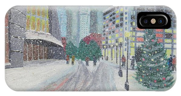 Boston First Snow IPhone Case