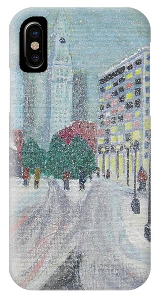 Boston First Snow IPhone Case