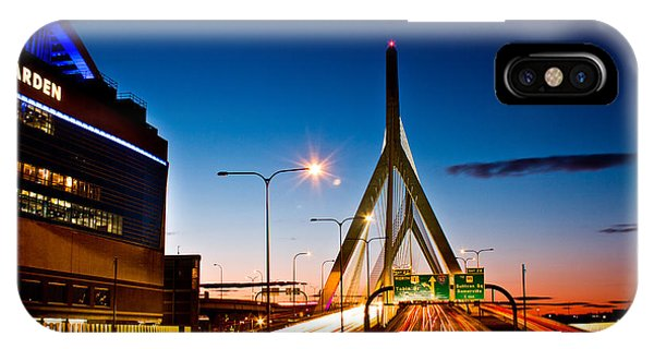 Boston Garden And Bunker Hill Bridge  IPhone Case