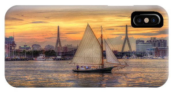 Boston Harbor Sunset Sail IPhone Case