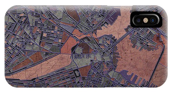 Boston Map Antique IPhone Case