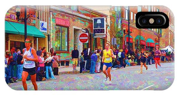 iPhone Case - Boston Marathon Mile Twenty Two by Barbara McDevitt