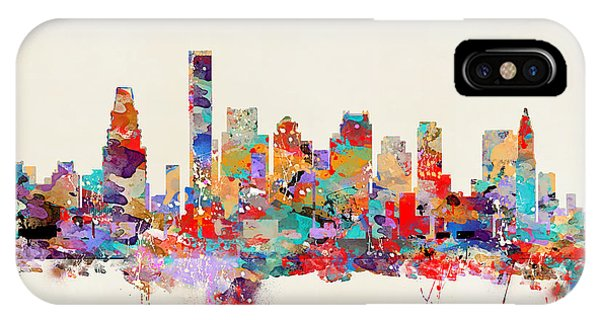 Massachusetts iPhone Case - Boston Massachusetts Skyline by Bri Buckley