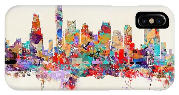 Massachusetts iPhone Case - boston Massachusetts skyline square   by Bri Buckley
