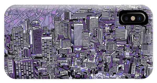Boston Panorama Purple IPhone Case