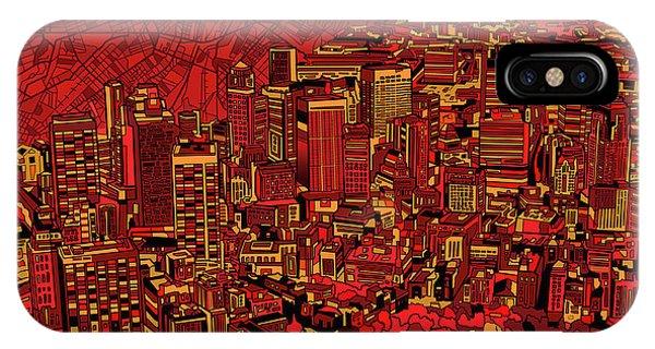 Boston Panorama Red IPhone Case