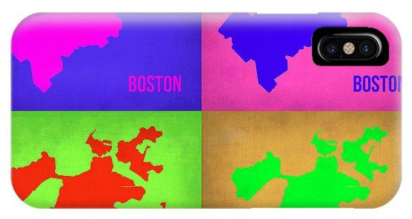 Boston Pop Art Map 1 IPhone Case