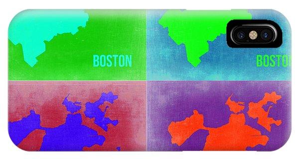 Boston Pop Art Map 2 IPhone Case
