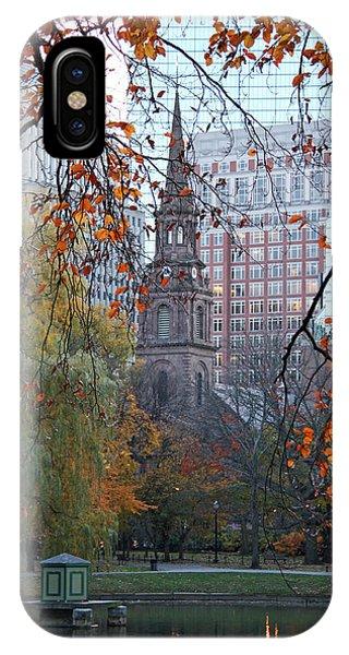 iPhone Case - Boston Public Garden In Autumn by Kathy Yates
