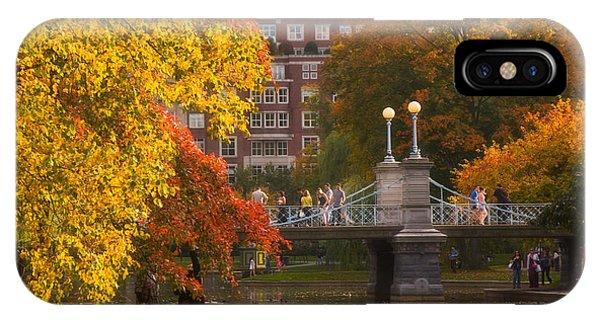 Boston Public Garden Lagoon Bridge IPhone Case