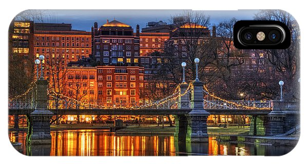 Boston Public Garden Lagoon IPhone Case