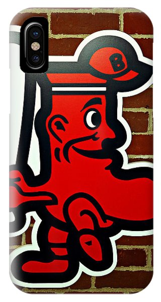 Boston Red Sox iPhone Case - Boston Red Sox 1950s Logo by Stephen Stookey