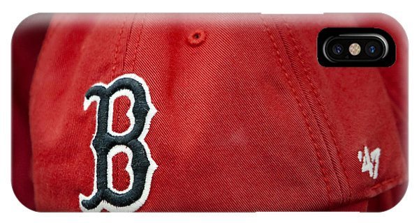 Boston Red Sox iPhone Case - Boston Red Sox Baseball Cap by Susan Candelario
